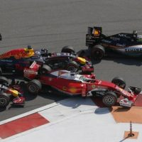Vettel tamponato