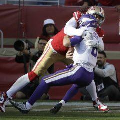 NFL '19: i Ravens si sciolgono coi Titans, lezione 49ers ai Vikings