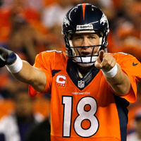 NFL week 8: metà campionato, Denver e Manning padroni assoluti
